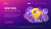New Idea Engineering Concept Landing Page.