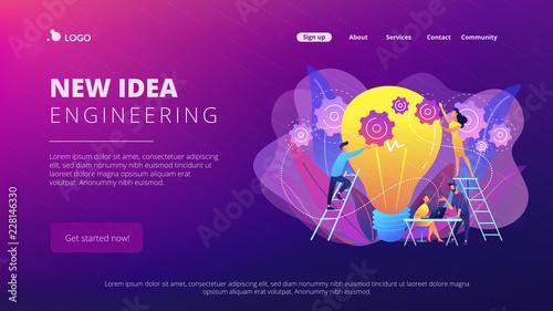 Obraz New idea engineering concept landing page. - fototapety do salonu