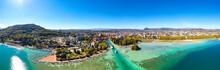 Aerial View Of Annecy Lake Wat...