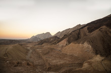 Yehuda Mountains And The Dead Sea