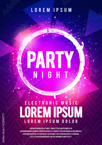 Vector Iilustration Dance Club Night Summer Party Poster Flyer Layout Template Colorful Music Disco Banner Design Buy This Stock Vector And Explore Similar Vectors At Adobe Stock Adobe Stock