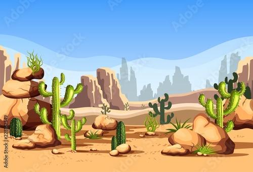 Fotografía Desert scenery or american canyon landscape