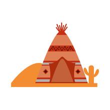 Teepee Native American Cactus Desert