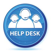 Help Desk (customer Care Team Icon) Midnight Blue Prime Round Button
