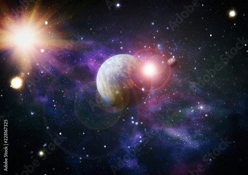 Planets, stars  Elements of this image furnished by NASA.