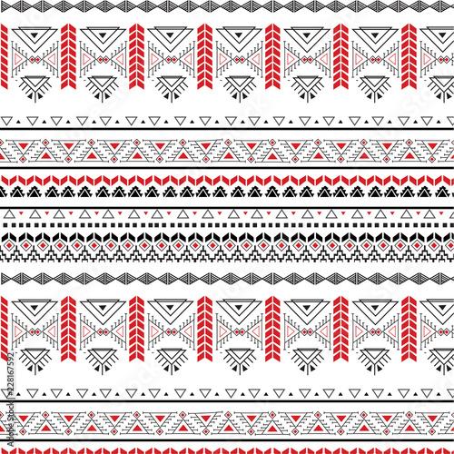 Photo Tribal seamless pattern - Berber black signs ,vector illustration