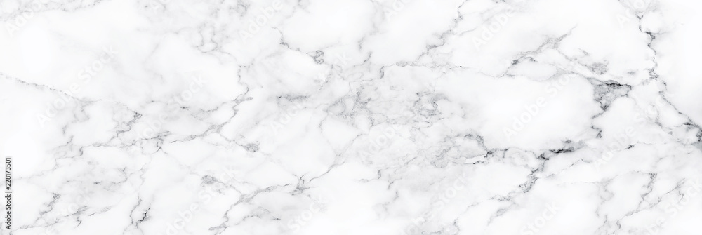 Fototapeta Natural White marble texture for skin tile wallpaper luxurious background, for design art work. Stone ceramic art wall interiors backdrop design. Marble with high resolution
