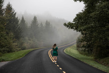 Road Trip On Blue Ridge Parkway, North Carolina