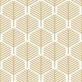 Abstrakcyjny wzór geometryczny liść z liniami - Złoty i biały wzór - Jednolite tło wektor - 228177746