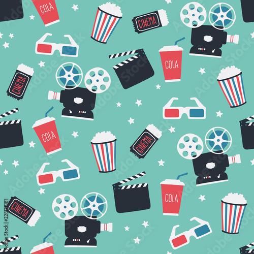 filmowy-tematyczny-bezszwowy-wzor-niekonczacy-sie-projekt-kina