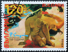 Painting By Paul Gauguin On Po...