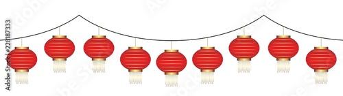 chinese lantern chain Canvas Print