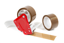 Brown Adhesive Packaging Tape Dispenser