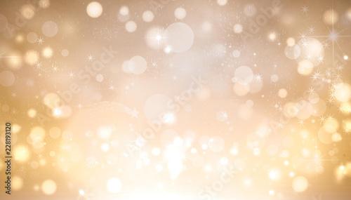 Fotomural golden shimmering bokeh