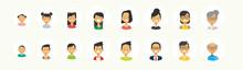 Set Diverse People Face Human ...