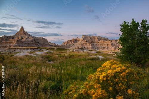 Poster de jardin Parc Naturel Badlands South Dakota mountains