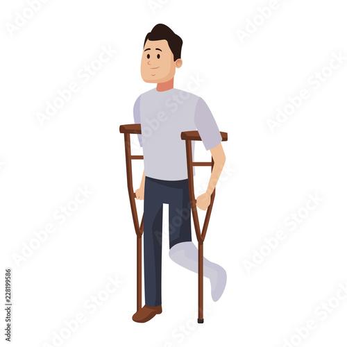 Fotografija Man with crutches