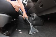 Man Cleaning Automobile Salon ...