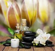 Zen basalt stones and aroma oil