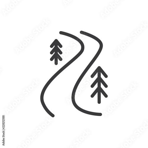 River trail vector icon - fototapety na wymiar