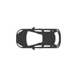Car top vector icon