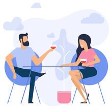 Illustration Of Romantic Date