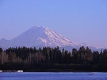 Mt. Rainier From Lake Meridian