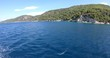 Greece island of Skopelos. View from the boat.