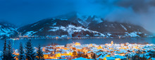 Zell Am See In Winter, Salzburger Land, Austria