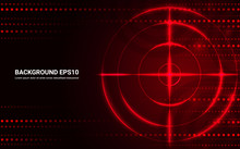 Abstract Red Target, Shooting ...