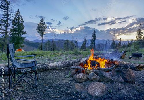 Cadres-photo bureau Rivière de la forêt Colorado Camping