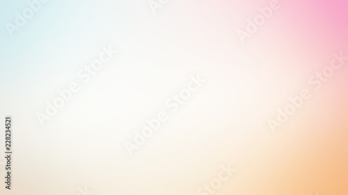 Abstract blur soft gradient pastel dreamy background Canvas Print