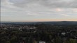 Aerial shot of the castle in a German woods. Forest and countryside view from the air. Moving up.