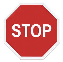 Stop Street Sign Vector Illust...