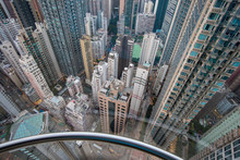 View From A Glass Elevator Abo...