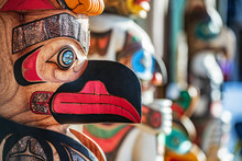 Alaska Totem Pole Carving Art ...
