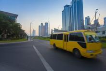 Dubai City Downtown And Bus Mo...