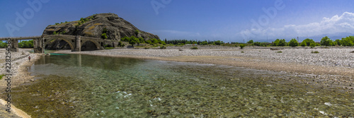 Foto op Plexiglas Rivier Panorama of the mountain river