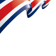 Costa Rica Flag, Vector Illustration On A White Background