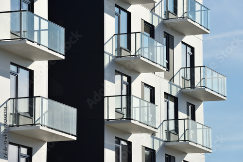 Carta da parati Balconies at modern architecture