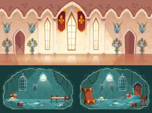 Vector Set Of Cartoon Game Bac...