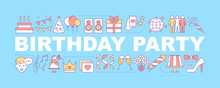 Birthday Party Word Concepts Banner