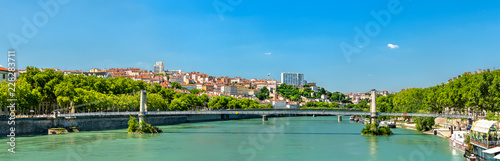 Foto op Plexiglas Europa Panorama of Lyon above the Rhone River in France