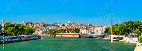 Foto op Plexiglas Europa Panorama of Lyon above the Saone River in France