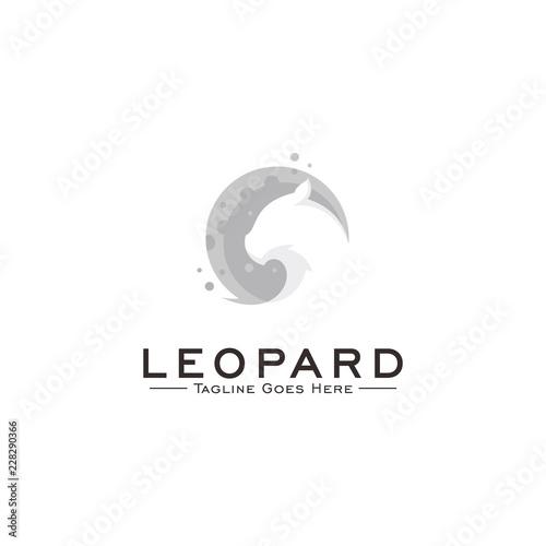 Fototapeta premium Lampart Koncepcja projektu Logo