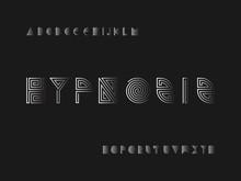 6960997 Hypnosis Font. Vector Alphabet