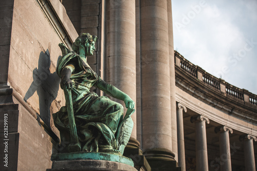 Allegorical Statue Liege by Charles Van der Stappen at Cinquantenaire Brussels Canvas-taulu