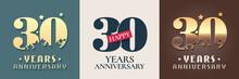 30 Years Anniversary Set Of Ve...