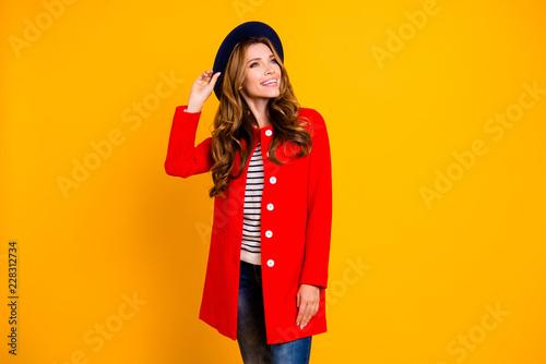 Fotografie, Obraz  Portrait of cheerful positive optimistic nice cute lovely adorab