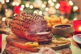 Fototapeta Tulipany - Glazed Holiday Ham